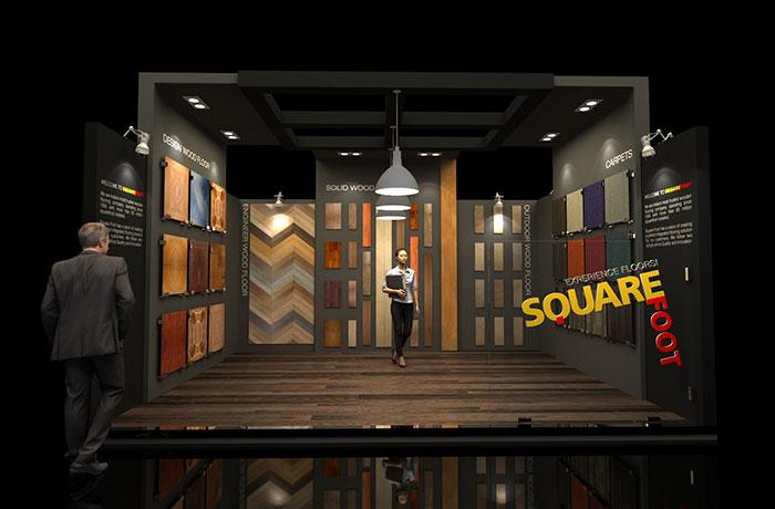 Square Foot Exhibition Set Up - NeoNiche
